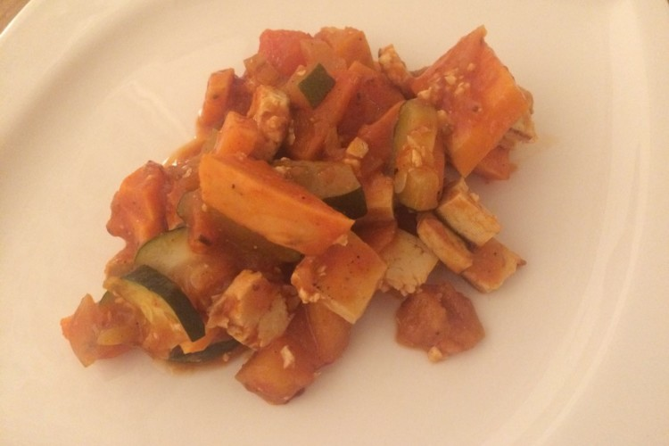 Süßkartoffel-Gemüse-Pfanne